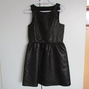 Kenzie Black Foil Sleeveless Cut-Out LBD Dress
